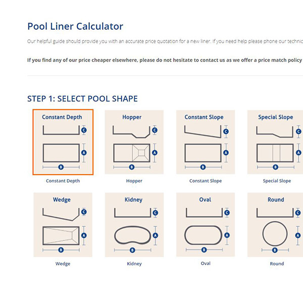 Pool Liner Calculator