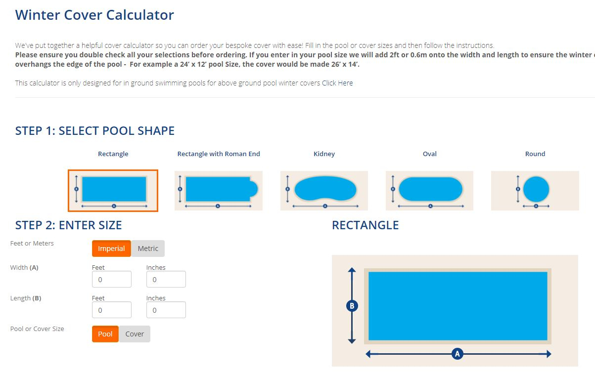 Winter Pool Calculator