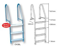 3 tread bar liner ladder