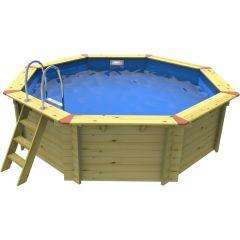 3.71m x 3.71m Octagonal Plastica Eco Wooden Pool