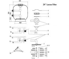 Lacron Swimming Pool Filter Spares