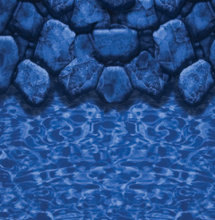 Patterned Overlap Above Ground Pool Liner